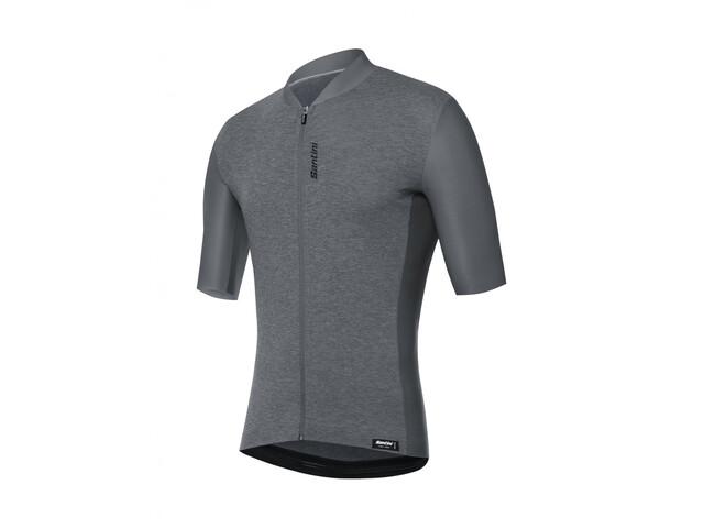 Santini Classe Maillot de cyclisme à manches courtes Homme, grigio